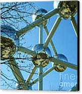 Brussels Urban Blue Canvas Print by Ramona Matei