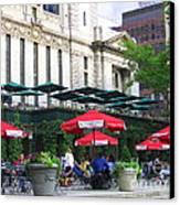 Bryant Park At Noon Canvas Print by Dora Sofia Caputo Photographic Art and Design