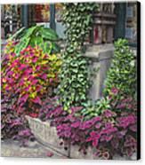 Bryant Park Grill 3 Canvas Print by Muriel Levison Goodwin