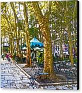 Bryant Park October Canvas Print