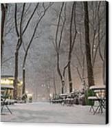 Bryant Park - Winter Snow Wonderland - Canvas Print