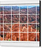 Bryce Canyon White Picture Window View Canvas Print by James BO  Insogna