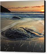 Bubbles On The Sand Canvas Print by Mike  Dawson