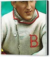 Buck Herzog Boston Braves Baseball Card 0500 Canvas Print by Wingsdomain Art and Photography