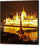 Budapest At Night Canvas Print by Gregory Dyer