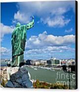 Budapest. View From Gellert Hill Canvas Print by Michal Bednarek