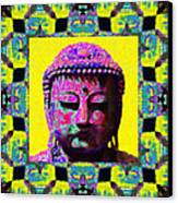 Buddha Abstract Window 20130130p120 Canvas Print by Wingsdomain Art and Photography