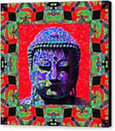 Buddha Abstract Window 20130130p55 Canvas Print by Wingsdomain Art and Photography