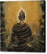 Buddha. Nirvana Ocean Canvas Print by Vrindavan Das