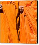 Buddhist Monks 02 Canvas Print by Rick Piper Photography