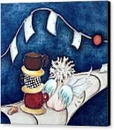 Buenas Noches Inspiracion Canvas Print by Belen Jauregui