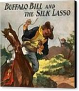 Buffalo Bill And The Silk Lasso Canvas Print by Dime Novel Collection