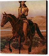 Buffalo Bill On Charlie Canvas Print