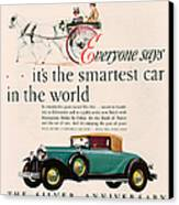 Buick 1928 1920s Usa Cc Cars Horses Canvas Print by The Advertising Archives