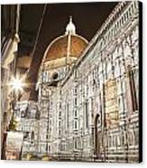 Buildings And Florence Cathedral Canvas Print by Alexander Macfarlane