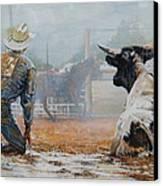 Bull Dogged Baffled Canvas Print by Bob Graham