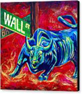 Bull Market Canvas Print by Teshia Art