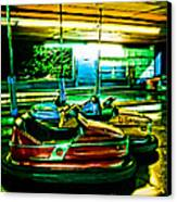 Bumper Cars Canvas Print by Colleen Kammerer