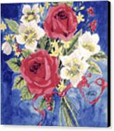 Bunch Of Flowers Canvas Print by Alban Dizdari
