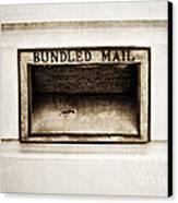 Bundled Mail Canvas Print