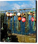 Buoys And Pots In Sennen Cove Canvas Print by Terri Waters