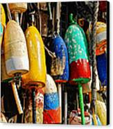 Buoys From Russell's Lobsters Canvas Print