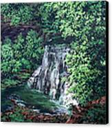 Burgess Falls State Park Tn. Canvas Print by W  Scott Fenton
