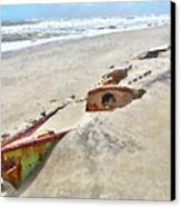 Buried Treasure - Shipwreck On The Outer Banks I Canvas Print by Dan Carmichael