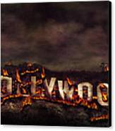 Burn This City Canvas Print by Anthony Citro