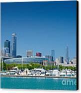 Burnham Harbor And The Chicago Skyline Canvas Print by Kristopher Kettner