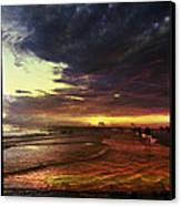 Burning Night On Siesta Key  Canvas Print