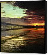 Burning Night On Siesta Key II Canvas Print by Alison Maddex