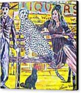 Bus Stop Canvas Print by Linda Vaughon