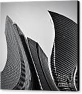 Business Skyscrapers Abstract Conceptual Architecture Canvas Print by Michal Bednarek