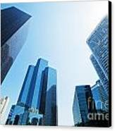 Business Skyscrapers Canvas Print by Michal Bednarek