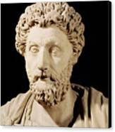 Bust Of Marcus Aurelius Canvas Print
