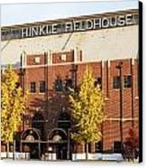 Butler Bulldogs Hinkle Fieldhouse In The Fall Canvas Print by Replay Photos