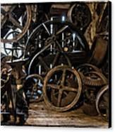 Butte Creek Mill Interior Scene Canvas Print by Mick Anderson