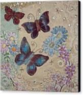 Butterflies Canvas Print by Hazel Millington