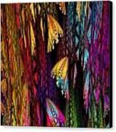 Butterflies On The Curtain Canvas Print