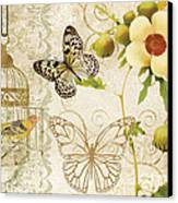 Butterfly Green Collage Canvas Print by Grace Pullen