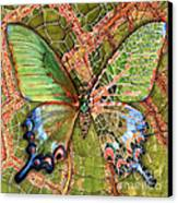 Butterfly Mosaic 03 Elena Yakubovich Canvas Print by Elena Yakubovich