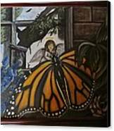 Butterfly Reflections Canvas Print by Diane Mitchell
