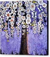 Butterfly Tree Canvas Print by Blenda Studio