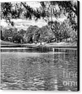 Bw Lake Views  Canvas Print by Chuck Kuhn