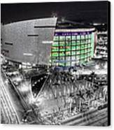 Bw Of American Airline Arena Canvas Print