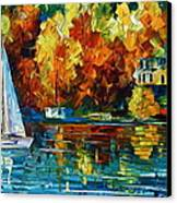 By The Rivershore Canvas Print by Leonid Afremov