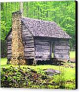 Cabin In The Smokies Canvas Print