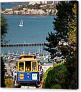 Cable Car In San Francisco Canvas Print