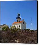 Cabrillo Lighthouse Canvas Print by Judy  Waller